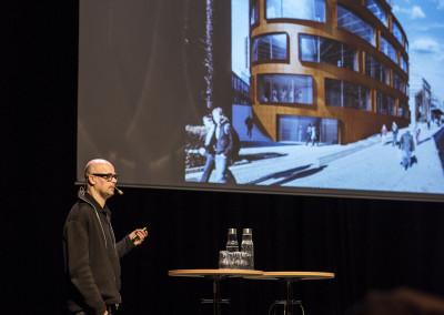 Martin Videgård från Tham & Videgård föreläser om KTH Arkitekturskolan