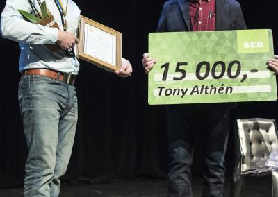 Titeln Årets Plåtslagare 2015 tilldelades Tony Althén från Johanssons Byggplåt i Malmö