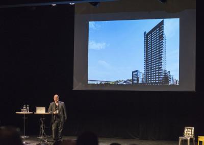 Gert Wingårdh från Wingårdhs föreläste om aluminiumprojektet Kajen 4
