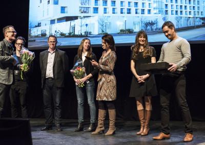 LINK Arkitektur tilldelades PLÅTPRISET 2015 för Skandionkliniken och hotel von Kraemer